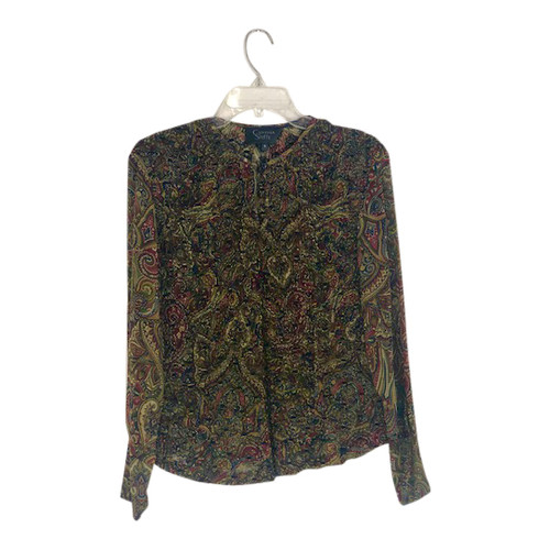 Cynthia Steffe Paisley Textured Blouse-Front