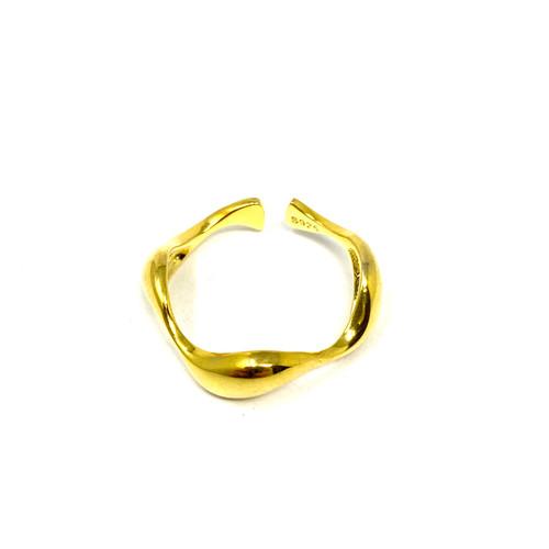 Wave Adjustable Stacking Ring- Thumbnail