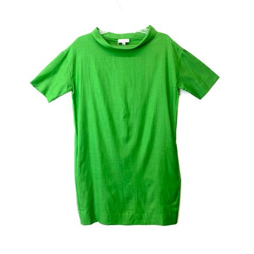 COS Green Folded Collar Short Sleeve Dress- Front
