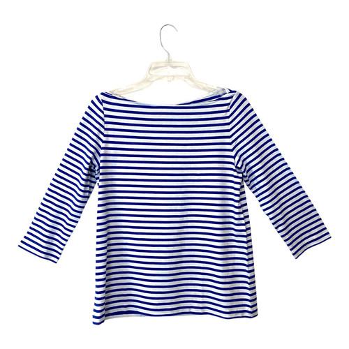 COS Blue Breton Stripe Long Sleeve T-Shirt- Front