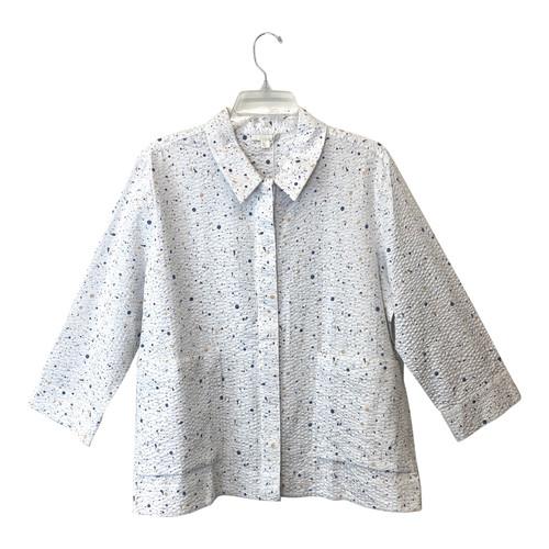 COS Textured Dot Button Down Shirt- Front