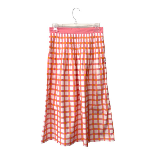 COS Gingham Pleated Skirt- Front