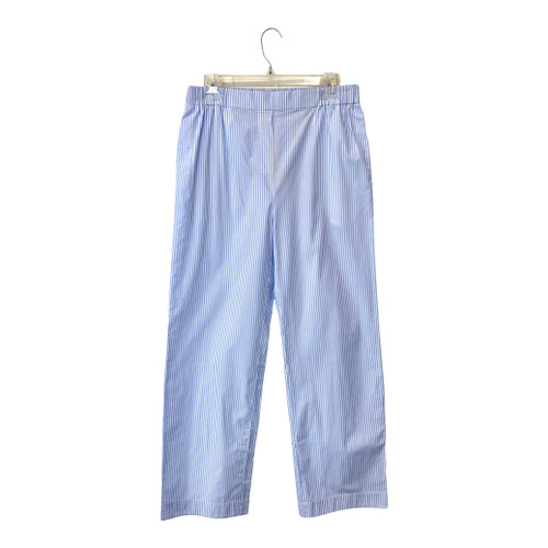 COS Light Blue and White Pinstripe Pants- Front
