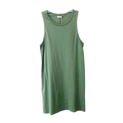 6397 Green Tank Dress- Front