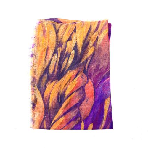 KUNA Blooms Print Shawl- Thumbnail