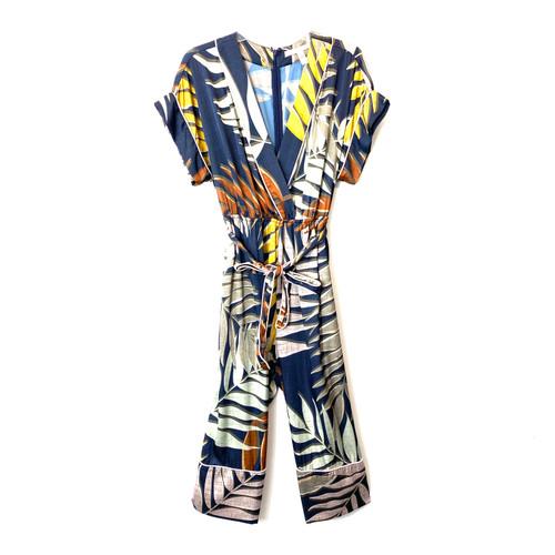 Hutch Printed Palm Harem Jumpsuit- Front