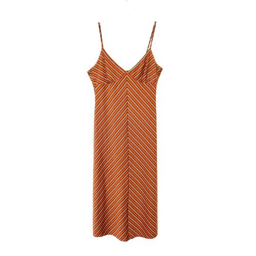 Laundry by Shelli Segal Striped Slinky Dress- Front
