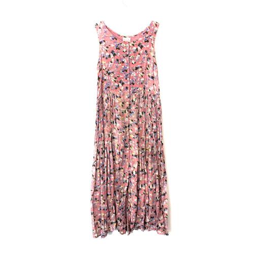 Vintage Soft Cotton Floral Print Dress- Front