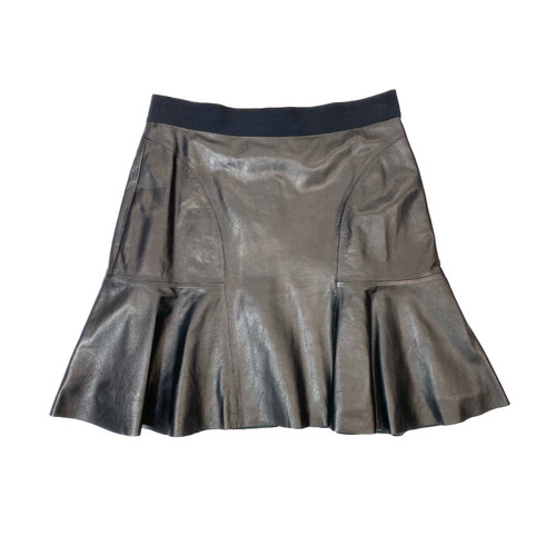 Rebecca Taylor Leather Mini Skirt- Front