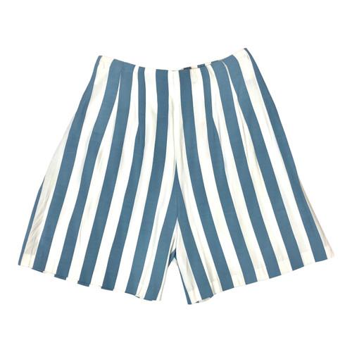 Vintage Summer Striped Shorts- Front