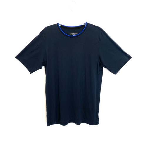 Rag & Bone Black Cotton T-Shirt- Front