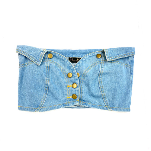 House of Chic Denim Bustier- Thumbnail