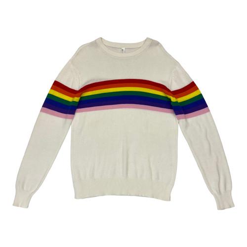 American Apparel Knit Rainbow Stripe Sweater- Front