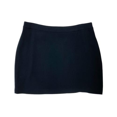 Herja Solid Black Mini Skirt- Front