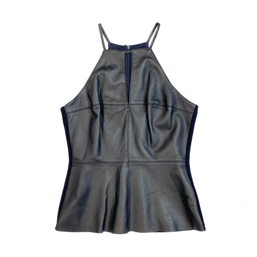 Bailey 44 Leather Halter Top- Front