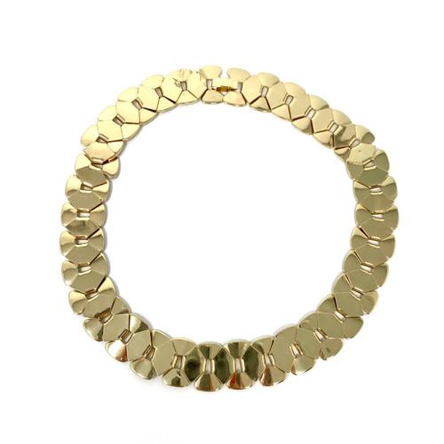 Geometric Petal Chain Choker- Front