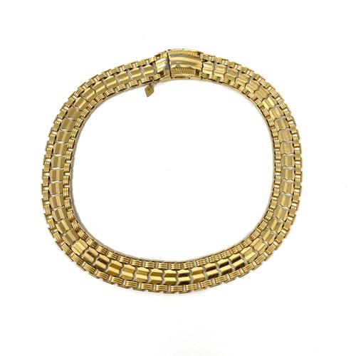 Chevron Chain Gold Choker- Front