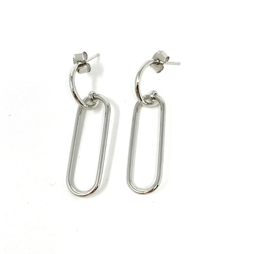 Shashi Paper Clip Drop Earrings- Front