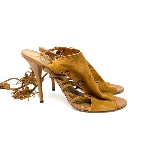 Aquazzura Suede Strappy Sandals- Right