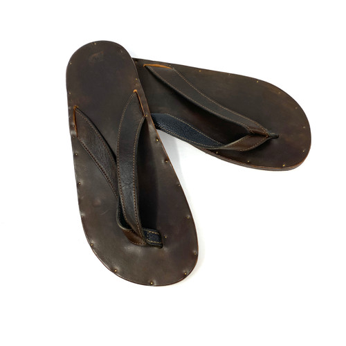 Jutta Neumann Leather Thong Sandals- Thumbnail