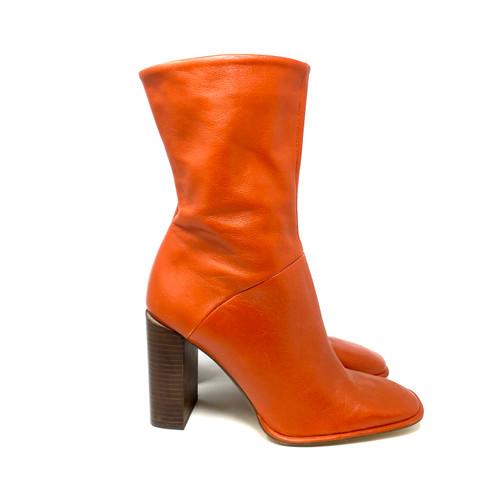 Zara 70's Square Toe Boots- Right
