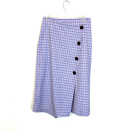 Pearl by Lela Rose Checked Midi Skirt- Front