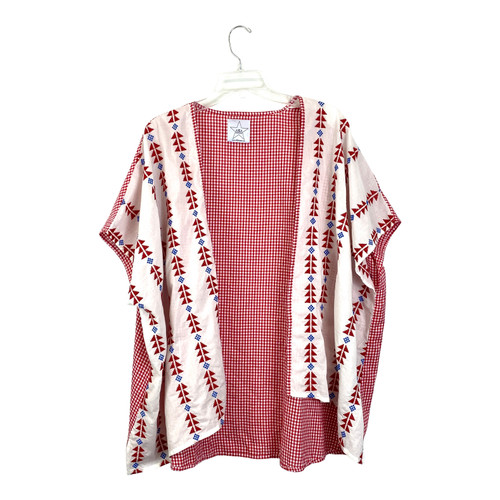 Area Stars Embroidered Gingham Shrug- Front