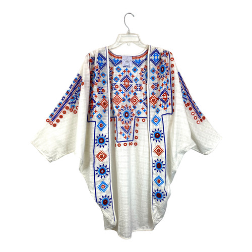 Area Stars Embroidered and Embellished Shrug- Front