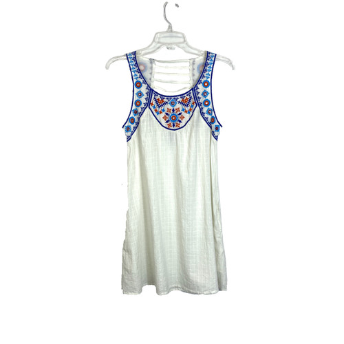 Area Stars Embroidered and Embellished Sleeveless Dress- Front