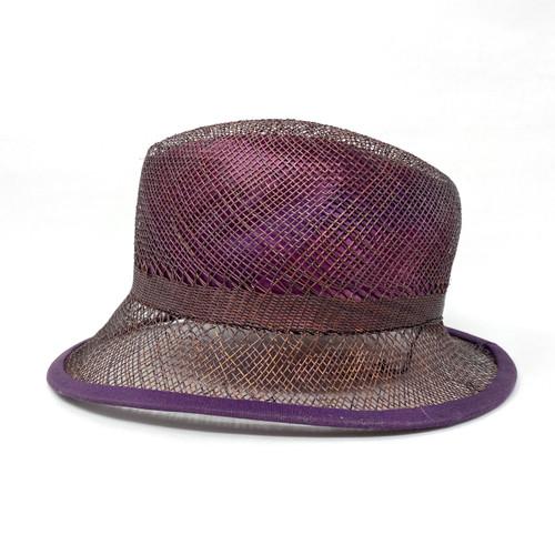 Rod Keenan Violet Open Weave Fedora- Thumbnail