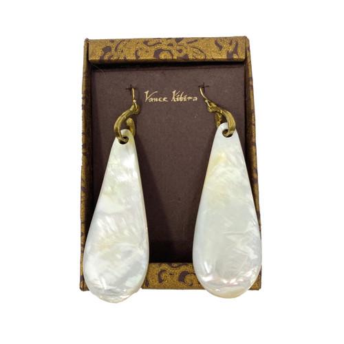 Vance Kitira Pearl Oversized Teardrop Earrings- Thumbnail