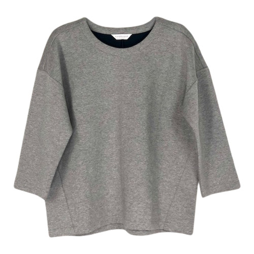 Everlane Boxy Cropped Sweatshirt- Front