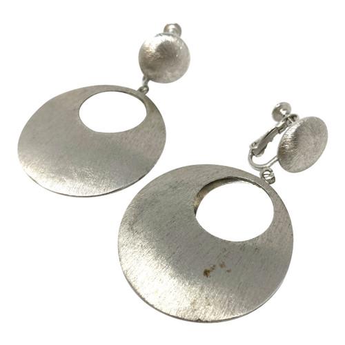 Modernist Convex Disc Earrings- Thumbnail