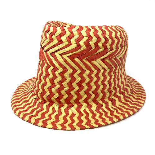 Hat Attack Warm Tricolor Fedora- Front