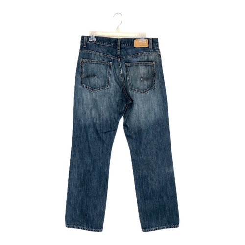 Calvin Klein Relaxed Straight Mid-Blue Jeans- Back