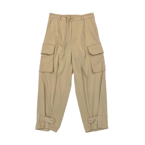 Y-3 Khaki Classic Refined Wool Stretch Cargo Pants - Thumbnail