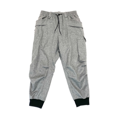 Y-3 Gray Classic Wool Flannel Cargo Pants - Thumbnail