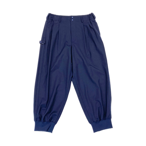 Y-3 Navy Classic Refined Wool Cuff Pants - Thumbnail