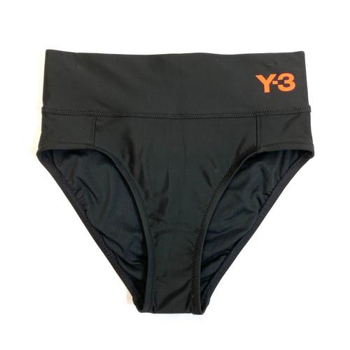 Y-3 High Waist Black Bikini Bottom- Front