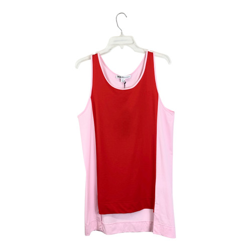 Y-3 Red Cut Out Tank Dress- Front