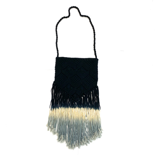 Area Stars Turquoise Ombre Fringe Bag-Front