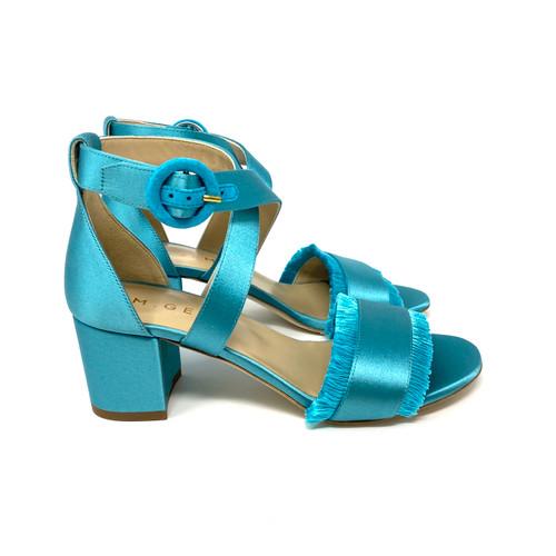 M. Gemi Fringe Peacock Sandals- Right
