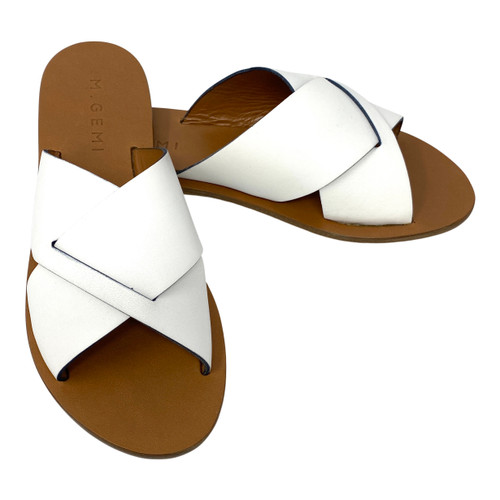 M. Gemi Fringe Peacock Sandals- Thumbnail