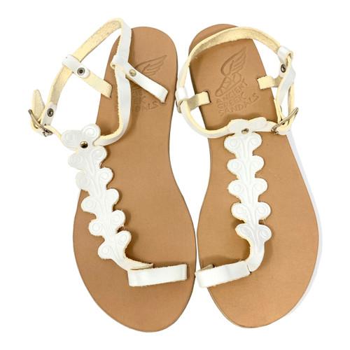 Ancient Greek Sandals Embossed Gladiator Sandals- Thumbnail