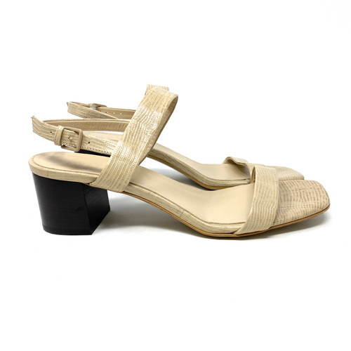 Everlane Embossed Lizard Sandals- Right
