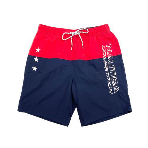 Nautica Competition Colorblock Quick-Dry Swim Trunks- Front