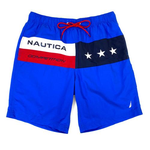 Nautica Competition Heritage Print Quick-Dry Swim Trunks- Front