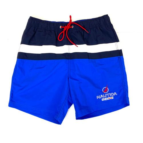 Nautica Colorblock Quick-Dry Swim Trunks- Front