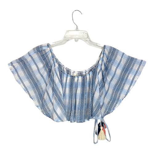 Cool Change Check Print Crop Top- Front