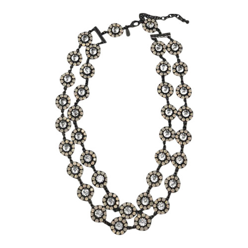 Joan Rivers Double Daisy Necklace- Front